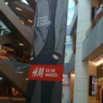 Pendon Textil de 18x4 metros apertura H&M